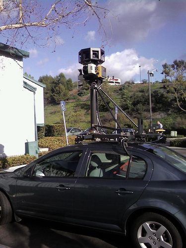 Google street view car from kylemurley