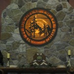 Picture of the mantle in the main lobby of the Great Escape Lodge, Queensbury, NY