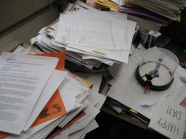 Messy Desk from mrsdkrebs on Flickr